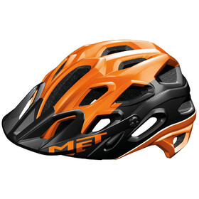MET Lupo Helmet matt orange/black